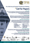 Announcing the 16th Annual Transport Practitioners' Meeting Call for Papers
